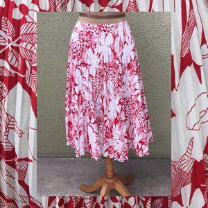 Sunburst Pleated Floral Skirt